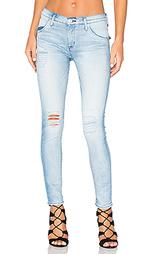 Укороченные облегающие джинсы средней посадки lilly - Hudson Jeans