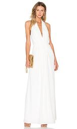 Плиссированное вечернее платье с v-образным вырезом - JILL JILL STUART