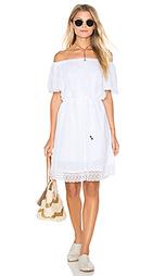 Платье без рукавов с кружевным подолом double gauze - Michael Stars