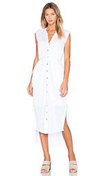 Льняное макси платье-рубашка - Heather