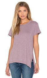 Мешковатая футболка с разрезом на асимметричном подоле - Wilt
