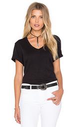 Полушерстяная футболка с v-образным вырезом и закатанными рукавами - Wilt