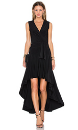 Платье с запахом и юбкой-солнцеклеш без рукавов - Norma Kamali