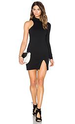 Мини платье на одно плечо с ложным рукавом - Donna Mizani