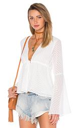 Вязаная блуза с длинным рукавом и v-образным вырезом - Endless Rose
