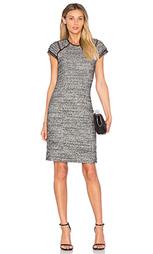 Цельнокройное платье из стерйчевого твида с коротким рукавом - Rebecca Taylor