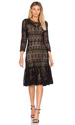 Кружевное платье с длинными рукавами - Rebecca Taylor