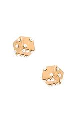 Серьги-гвоздики dice - Marc Jacobs
