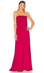 Ярусное вечернее платье без бретелек - Halston Heritage