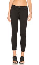 Укороченные узкие джинсы с молнией на гульфике - 3x1