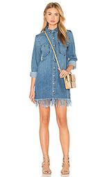 Платье-рубашка с бахромой - 3x1