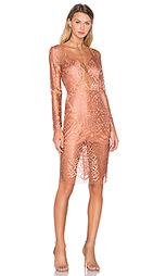 Кружевное платье с длинными рукавами - Michelle Mason