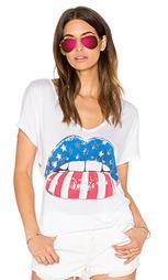 Свободная футболка с v-образным вырезом trista - Lauren Moshi