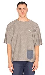 Свободная футболка в горошек с логотипом - CLOT