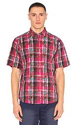 Рубашка в клеточку overlapped pattern - CLOT