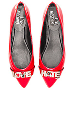 Балетки love hate - Love Moschino