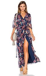 Макси платье с расклешенными рукавами - Haute Hippie