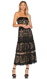 Миди платье с оборкой без бретелек - Twelfth Street By Cynthia Vincent