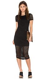 Миди платье с точными вырезами - KENDALL + KYLIE
