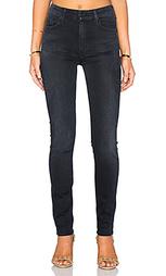 Узкие джинсы с высоким поясом the looker - MOTHER