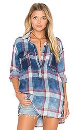 Рубашка на пуговицах с асимметричными подолом - BLANKNYC