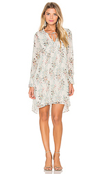 Цветочное цельнокройное платье с длинным рукавом - IKKS Paris