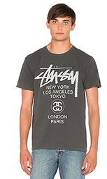 Футболка world tour - Stussy