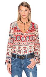 Крестьянская блуза с двойными v-образным вырезом - Chaser