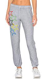 Брюки с рисунком в звёздочку olympic - Wildfox Couture