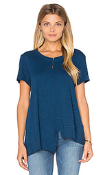 Мешковая футболка с разрезом спереди - Wilt