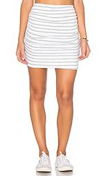 Полосатая мини юбка с рюшами - SUNDRY