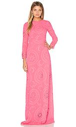 Макси платье с вышивкой длинный рукав - Hoss Intropia