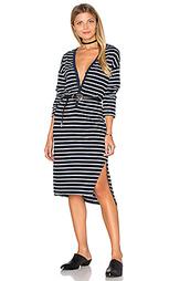 Платье с застёжкой на пуговицу спереди и длинным рукавом - SUNDRY