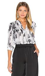 Полосатая блуза с накладным карманом - Vince