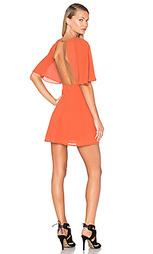Платье с открытой спиной и расклешенными рукавами - BLAQUE LABEL