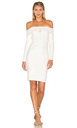 Платье с открытыми плечами и длинными рукавами - Michelle Mason