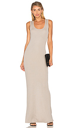 Макси платье с широким вырзом - Heather