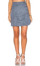 Трапециевидная юбка с пуговицами сбоку - 1. STATE