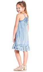 Джинсовое платье с рюшами - BLANKNYC
