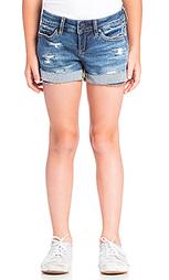 Потертые джинсовые шорты - BLANKNYC