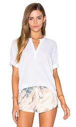 Жатая сеточная блуза с коротким рукавом - Stateside