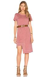 Платье футболка в рубчик со смещенным подолом - Wilt