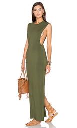 Макси платье без рукавов с разрезом сзади - Bobi