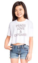 Футболка peace love & cupcakes - Chaser