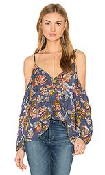 Блуза с запахом спереди открытые плечи jane - Bishop + Young