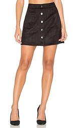 Замшевая мини юбка с застежкой на пуговицы - Bishop + Young