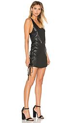 Кожаное платье со шнуровкой fifi - RtA