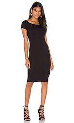 Платье в рубчик с коротким рукавом - Lisakai