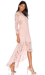 Кружевное макси платье с асимметричным подолом galella - aijek