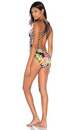 Цельный купальник с перекрестными шлейками сзади - Trina Turk